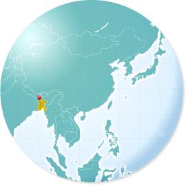 バングラデシュの地図